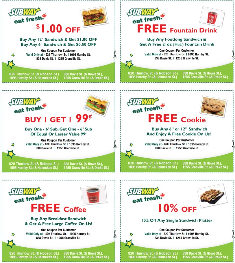Oct 31,  · Subway Coupons: Let Subway Cater Your Next Event.